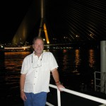 Republican challenger Mike Krenesy, pictured here in Thailand in front of the Rama VIII bridge, values vision and planning in political administration.