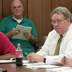 Wayne McAllister (right) will pull double duty, for now at least, serving as both the borough's controller and the Board of Education's business manager.
