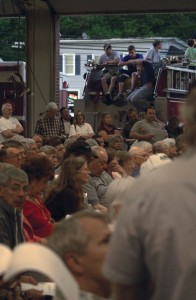 After overflowing the senior center, Beacon Falls residents packed into Beacon Hose Co. No. 1 Wednesday night, where they rejected the town's proposed budget.