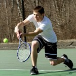 Woodland's Mike Krakowski is the only returning senior for the Hawks this  season. Krakowski, one of the top singles player last year, will be leaned upon to help groom a Young hawks team. PHOTO BY LARAINE WESCHLER