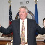 Mayor Robert Chatfield speaks during the Town Council meeting Tuesday night.