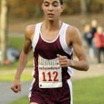 Naugatuck senior Muad Hrezi won his second straight NVL cross country championship on Thursday at Veterans Park in Watertown. Hrezi won the race in 15:50, 20 seconds faster than teammate Nick Moriello, who finished second. SPECIAL TO CITIZEN'S NEWS