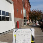 Water is available for utility purposes at the Naugatuck Fire House.