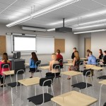 This artistic rendering shows what a typical classroom at Naugatuck High School could look like after renovation.