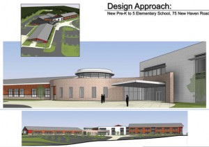 An artistic rendering of the new elementary school to be built in Prospect. -CONTRIBUTED