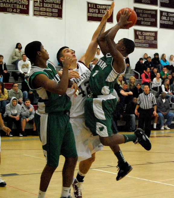 Wilby runs past Greyhounds
