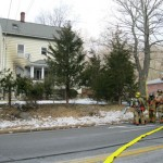 Naugatuck firefighters work at a structure fire on Prospect Street early Saturday afternoon. No one was injured in the fire at the two-family home. The fire is being investigated as a possible arson, fire officials said. –RA ARCHIVE