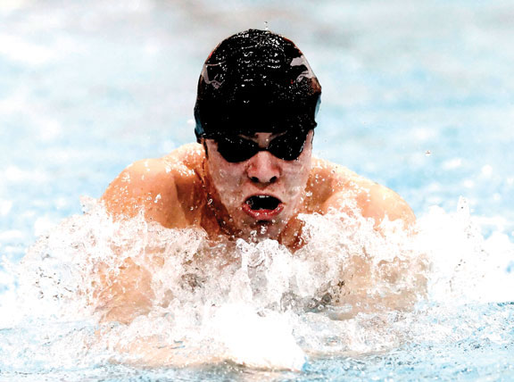 Naugy boys swim to 11th at Class L meet