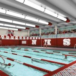 An artistic rendition shows what the new natatorium at Naugatuck High School could look. Work on the natatorium, which is included in an $80.9 million overhaul of the high school and athletic facilities, is expected to be complete by the end of the summer 2013. -CONTRIBUTED