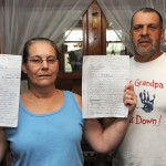 Donna Cariello and her husband Charles Amrich are collecting signatures on a petition to keep Central Avenue Elementary School in Naugatuck opened after the Board of Education voted to close it. –RA ARCHIVE