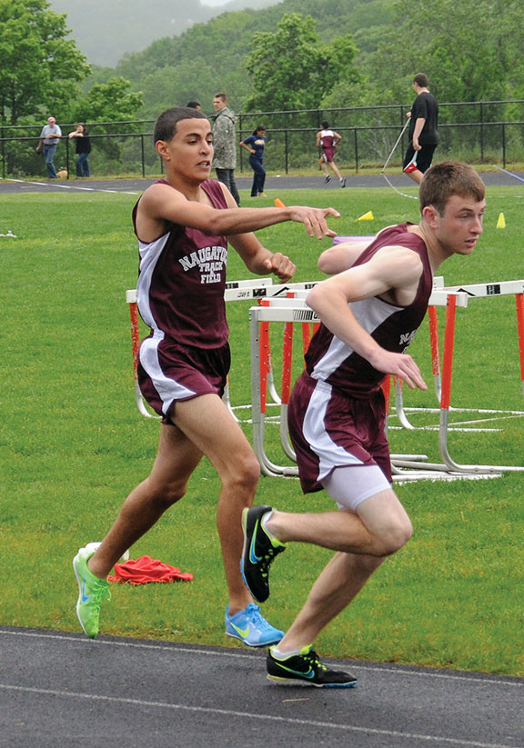Record-setting day for Naugatuck on the track