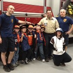 Tiger Cubs from Pack 109 in Naugatuck recently toured the Naugatuck Fire Department headquarters downtown. Tiger cubs, pictured, from left, Brendan Howard, Joe Arcovio, Nathan Rocheleau, Ethan Poppel, Samuel Almeida, and Tessa Arcovio. –CONTRIBUTED