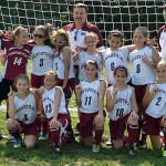 Naugy United went undefeated over the Memorial Day weekend to capture the U11 Girls Championship at the Cheshire Quinnipiac Valley Invitational Tournament. With only three reserve players on a very hot and humid weekend, the girls only gave up one goal during their four games. Naugy United defeated previously unbeaten Plainedge Explosion from Long Island, N.Y. 1-0 in the final match. Pictured, kneeling from left, Sidney Lauer, Nikki Lee Rostedt, Hailey Boulanger, Jenna Rohlman and Mia Rotatori. Standing, from left, coach Carlos Neto, Caitlin May, Carly Neto, Sophia Marques, team manager Dan May, Nicole Rohlman, Gabriella Carello, Hailey Deitelbaum and assistant coach David Rotatori. –CONTRIBUTED