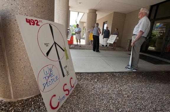 Public speaks on turbine regulations