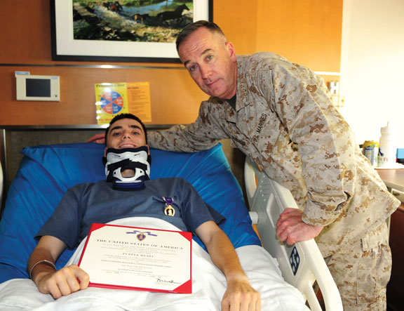 Fundraiser to benefit injured borough Marine