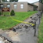 Hillside Intermediate School in Naugatuck sustained between $300,000 and $500,000 in damages from the Aug. 1 flash flood. The school board's flood insurance should pay for most of the repairs. –RA ARCHIVE