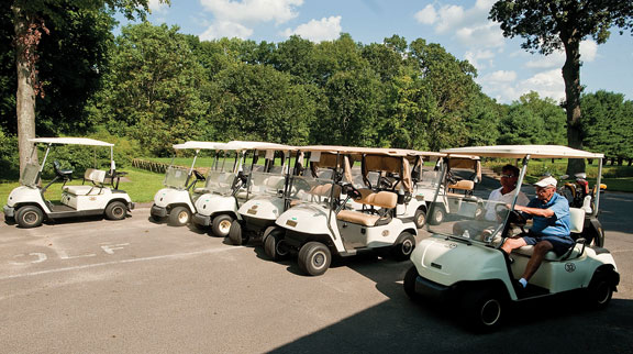 Golf pro presents plan for new carts