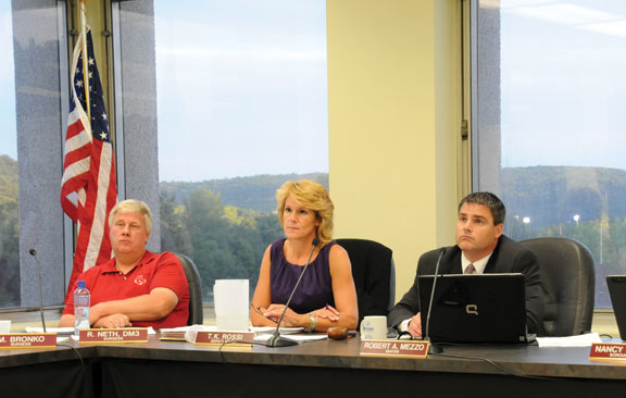 Commissioners talk signs with borough board