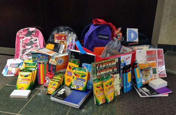 NVSL collecting school supplies for children in need