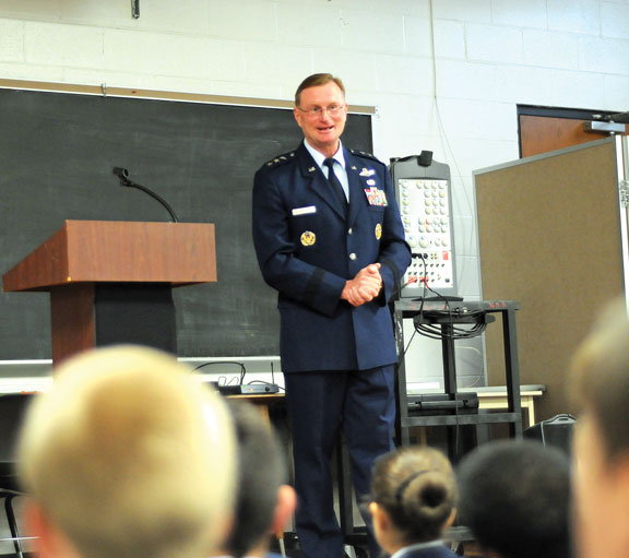 Cadets earn recognition, visit from general