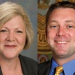 Democrat Theresa Conroy, left, and Republican Len Greene Jr. face off again in the race for the 105th House District, which represents Beacon Falls, Seymour, and a part of Derby.