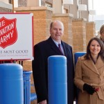 From left, state representatives David K. Labriola (R-131), Rosa Rebimbas (R-70), and Salvation Army's Donor Relations Director Dawn Felming at Walmart in Naugatuck Dec. 13.