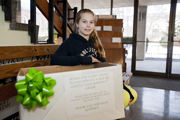 Borough girl organizes book drive for Sandy Hook students