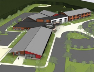 An artistic rendering of the new elementary school to be built in Prospect. –CONTRIBUTED