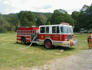 Engine 2, a 1992 Boardman, will be retired when the borough gets a new pumper and rescue truck. Northeastern Fire Equipment in Cheshire won the bid for the new truck at nearly $489,000. –RA ARCHIVE
