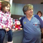 Due to school being canceled the week of Valentine's Day in Naugatuck, Rikki Harris, 6, a first-grader at Maple Hill Elementary School was unable to pass out Valentine's cards to her class mates. Harris's mother, Mary gave her the opportunity to pick one special person that she would like to have as her Valentine. She chose her dentist, Dr. Henry Danziger and recently presented him with a Valentine surprise. –CONTRIBUTED