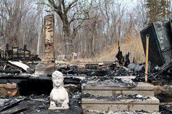 Empty borough home burns to the ground