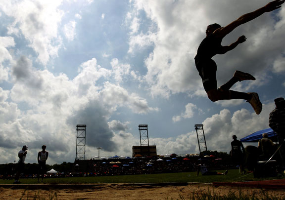 Lang excels in decathlon, New England jumps