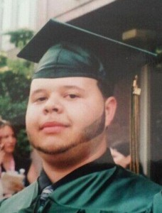Korey Jordan at his graduation from Emmett O'Brien Technical High School in June 2011. Jordan was killed last Halloween in a car accident in Seymour. –CONTRIBUTED