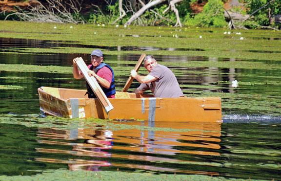 Inaugural cardboard boat race sets sail