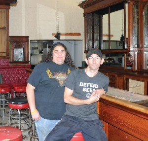 Tara Mirto of New Haven, left, and Naugatuck resident Ryan Whipple bought the Old Corner Cafe on North Main Street in Naugatuck last month. They are planning to reopen it in late October under the name The Corner Tavern. –LUKE MARSHALL