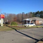 State police investigate an armed robbery at Wells Fargo Bank at 66 Waterbury Road in Prospect on Friday morning. –RA ARCHIVE