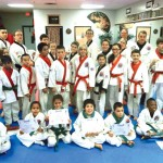 USA Martial Arts of Naugatuck held a junior advanced karate grading Dec. 12. Students demonstrated skills in sparring, forms, board breaking, kicks, rolls and breakfalls. Pictured, first row, Deepak Prakash, Sabrina Dasilva, Leah Quijano, Sean Sayer, Nico Albanese and Maurice Myers. Second row, Natalia Lizak, David Marimekala, Evan Lin, Isaiah Shea, Ryan Pruzinsky, Anno DeMagistris, Lauren Mulinsky, Kylie Ramponi, Nicholas Quijano, Jacob Chalmers and Aidan Lyons. Third row, Pete Meleschnig, Kathleen Robinson, Javon Lopez, Emil Lizak, Noah Santoro, Nathaniel Smith, Nick Mercure, Ray Mercure, Ben Meleschnig, Misty Sherman, Dennis Buckley, Joe Antonucci, Nicole Buckley and Grand Master Robert Cheezic. –CONTRIBUTED