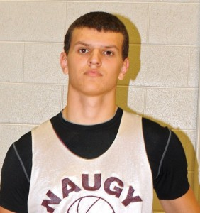 Naugatuck's Ryne Griesenauer had 14 points and nine rebounds in the Greyhounds' 64-47 win over Woodland Jan. 11. –FILE PHOTO