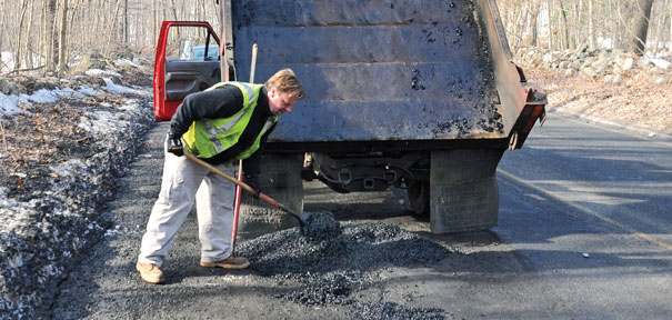 Winter gives birth to more potholes