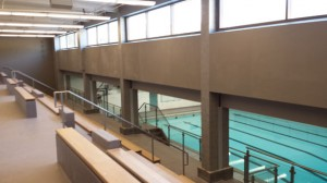 The pool at Naugatuck High School has new bleachers that allow for more spectators at swim meets. –RA ARCHIVE