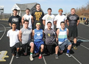 The Woodland boys outdoor track team enters the season as the reigning Naugatuck Valley League champions. The team will look to seniors, front row from left, Chris Alarcon, Mike Lang, Jack Pinho, Dan Conti, Wesley Sniadecki, back row from left, Josh Cotto, Taylor Tucciarone, Alik Bures, Bob Paternoster, Shane Classey and Levi Fancher for leadership on the track. –LUKE MARSHALL