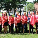 The Naugatuck Emblem Club observed Flag Day, June 14, on the Naugatuck Green with the Naugatuck Elks Lodge and the Naugatuck Veterans Council. The club conducted a presentation of the history of the American flag and Kim Best read an inspirational poem. –CONTRIBUTED