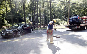 Two hospitalized after crash Thursday