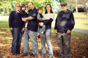 From left, Mary Midolo, Shaymus Vaughan, Jeffrey Vaughan, Jr., Morgan Vaughan, Stephanie Vaughan, and Sebastian Midolo. The family recently founded the Morgan Leary Vaughan Fund, Inc., a nonprofit organization to raise awareness of and funds to research necrotizing enterocolitis. –CONTRIBUTED