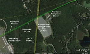 The proposed 26-acre site for the CPV Towantic Energy Center power plant in Oxford. Competitive Power Ventures plans to break ground next year on an 805 megawatt combined-cycle electric generating facility. -CONTRIBUTED
