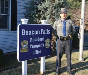 Humberto Henriques, a Naugatuck native and Prospect resident, is the new resident state trooper in Beacon Falls. Henriques started the job in December. –LUKE MARSHALL