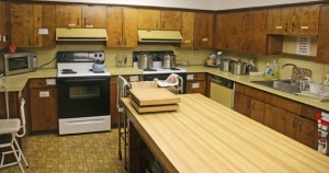 The kitchen in the lyceum at St. Michael's Church in Beacon Falls will be moved as part of phase two of renovations at the church. -LUKE MARSHALL