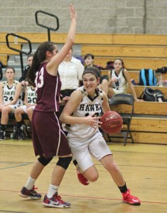 Woodland's Carla Piccolo (10) is one of three senior captains that led the girls basketball team back to the state tournament for the first time in three years. –FILE PHOTO