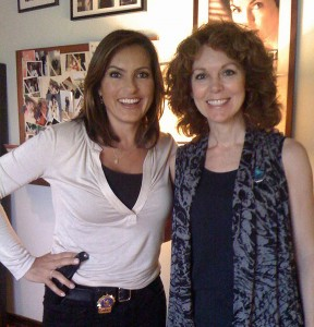 Actress Mariska Hargitay, left, poses with Donna Palumbo of the Naugatuck-based Jane Doe No More. Palumbo's organization will honor the star of 'Law & Order: Special Victims Unit' at an event Friday for starting a foundation that helps survivors of sexual abuse. -CONTRIBUTED
