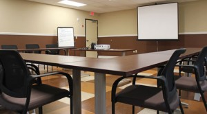 A 700-square-foot meeting space, which can be used for Board of Education meetings, professional development and training seminars, is among the new amenities in Region 16's new district office. Region 16, which oversees schools in Beacon Falls and Prospect, received the certificate of occupancy for the new office on Coer Road in Prospect last week. –ELIO GUGLIOTTI